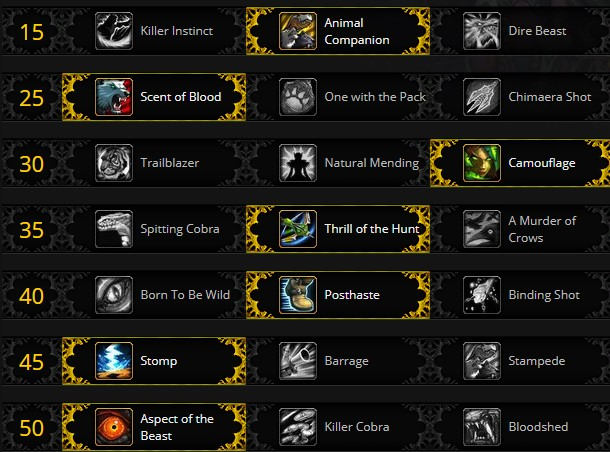 Beatmaster Hunter Leveling Talents for Shadowlands