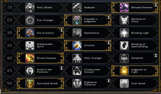 Protection Paladin Leveling Talents Shadowlands