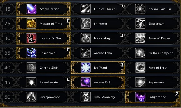 Arcana Mage Leveling Talents for Shadowlands