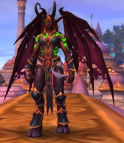 Blood Elf Demon Hunter female in Demon form