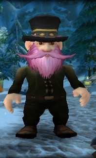 Gnome, dressed to bank