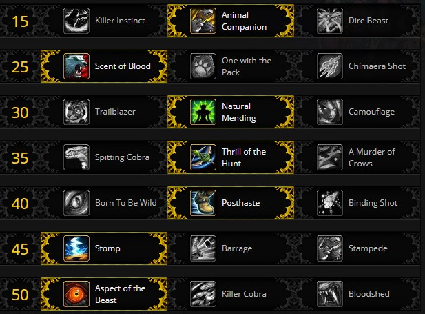 Beatmastery Hunter PVE Talents for Shadowlands